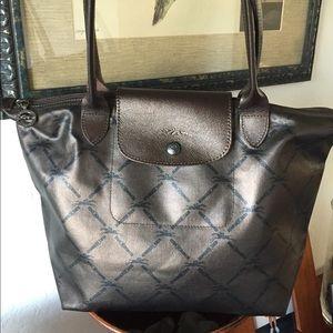 Authentic Longchamp Brown Logo Le Pilage Bag